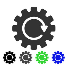 Gearwheel rotation flat icon vector