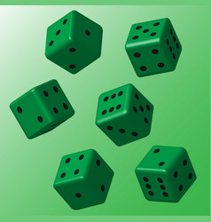 green dice with black points vector image