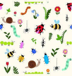 Happy bugs vector