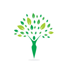 health and nature logo vector image