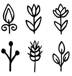 High quality original flower doodle isolated on vector