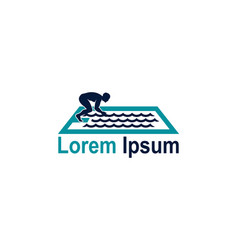 icon for swimming teams and olympic pool sport vector image