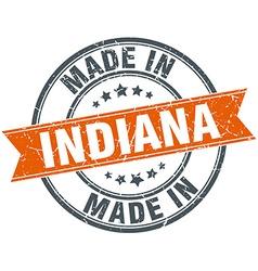 Indiana orange grunge ribbon stamp on white vector