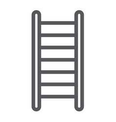 ladder line icon stair and climb fire ladder vector image