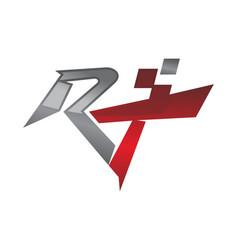 Letter r t modern vector