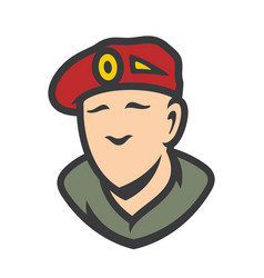 Maroon military army special forces sign vector