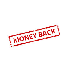 money back stamp texture rubber cliche imprint vector image
