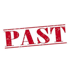 Past red grunge vintage stamp isolated on white vector