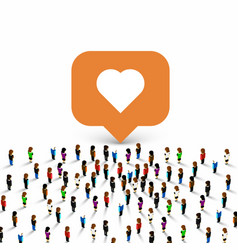people group like frame heart vector image