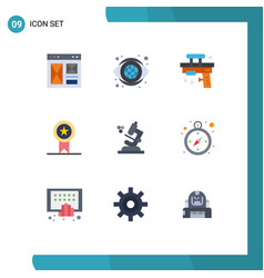 Pictograph set 9 simple flat colors stamp vector