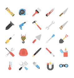 Power tools flat icons vector