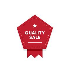 premium quality sale market tag design vector image