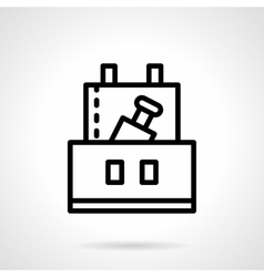Professional celebration black line icon vector image