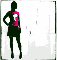 punk rock girl vector image vector image