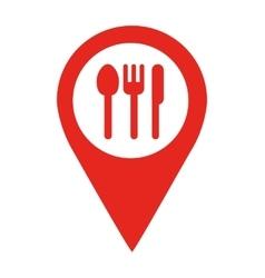 Restaurant location pin isolated icon design vector