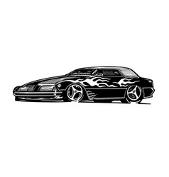 Retro hotrod car clipart cartoon vector