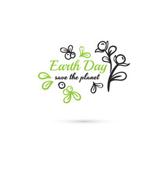 save the planet earth day berries vector image