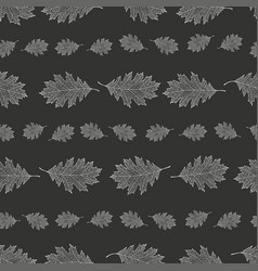 seamless pattern from the snowy leaves of red oak vector image