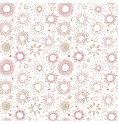seamless pattern with beige stars can be used vector image