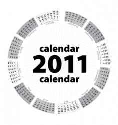 simple creative calendar of 2011 vector image