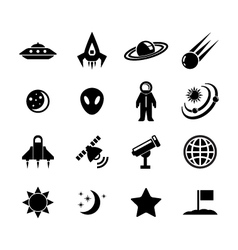space icon vector image