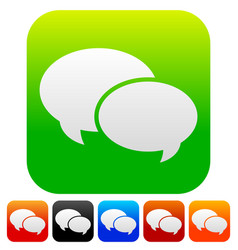 Speech bubble graphics two overlapping speech vector
