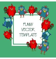 Stock card template for children s birthday vector