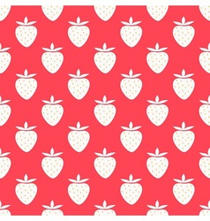 Strawberry summer pattern vector image