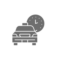 taxi waiting time car deadline schedule ride vector image