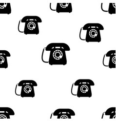 Telephone seamless pattern vector