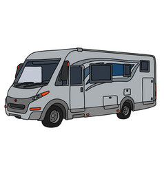 The silver large motor home vector