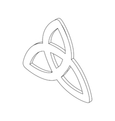 Triquetra icon isometric 3d vector
