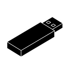 usb memory isometric icon vector image