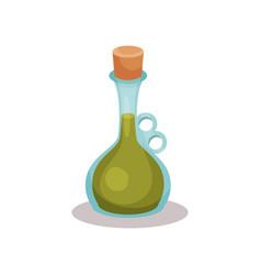 Vinegar bottle on a white vector