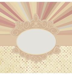 Vintage Sun burst Card vector