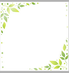 white background with decorative edges of green vector image