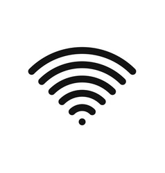 Wifi symbol wireless internet connection or vector