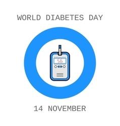 World Diabetes Day Glucometer test strip Flat vector image