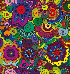 Seamless colorful floral pattern vector image