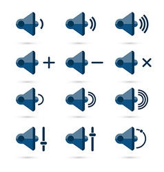 speaker icon set vector image vector image