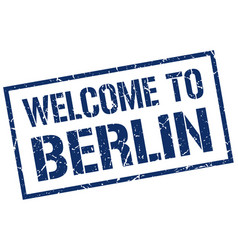 welcome to berlin stamp vector image vector image
