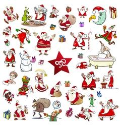 christmas themes cartoon set vector image