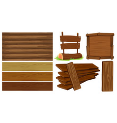 different design of wooden board vector image