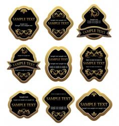 set of vintage labels vector image vector image