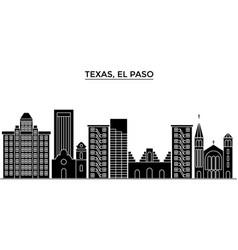 usa texas el paso architecture city vector image vector image
