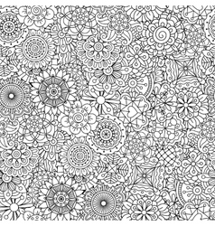 Detailed floral disk shapes as seamless pattern vector image vector image