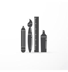 Education creativity pen pencil brush vector