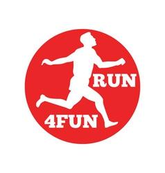 marathon runner run 4fun race vector image vector image