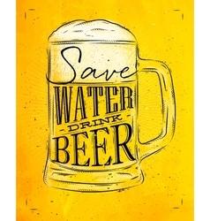 Poster drink beer yellow vector image vector image