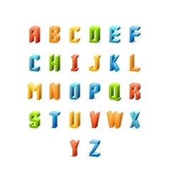 3d retro font vector image vector image